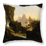The Subsiding Of The Waters Of The Deluge Throw Pillow