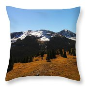 The Sugar Coated Mountains Throw Pillow