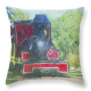 The Sugar Train Throw Pillow