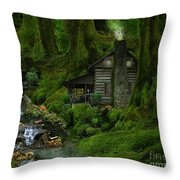 The Summer Cottage Throw Pillow