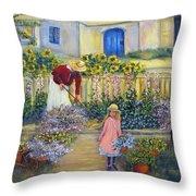 The Summer Garden Throw Pillow