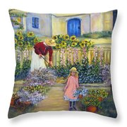 The Summer Garden Throw Pillow