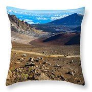 The Summit Of Haleakala Volcano In Maui. Throw Pillow