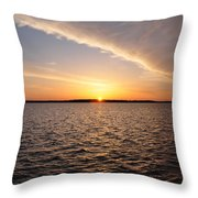 The Sun Coming Up On The Chesapeake Throw Pillow