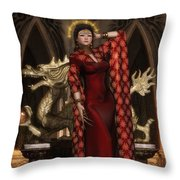 The Sun Empress Throw Pillow
