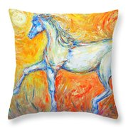 The Sun Horse Throw Pillow