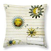 The Sun Moon And Stars Throw Pillow