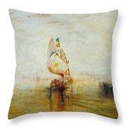The Sun Of Venice Going To Sea Throw Pillow