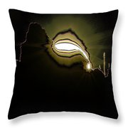 The Sun Over A Jagged Hill Throw Pillow