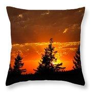The Sun Retreats Throw Pillow