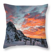 The Sun Rises, Illuminating The Sky Throw Pillow