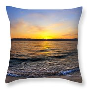 The Sun Rises Over The Red Sea In Egypt Throw Pillow