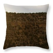 The Sun Sets Behind The Canyon Throw Pillow