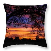 The Sun Sets For Mike Throw Pillow