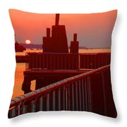The Sun The Sound And The Sky Throw Pillow
