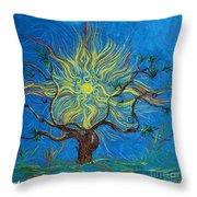 The Sun Tree Throw Pillow