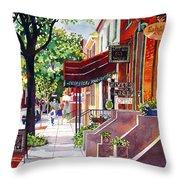 The Sunlit Shops Throw Pillow