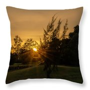 The Sunset In The Mountain IIi Throw Pillow