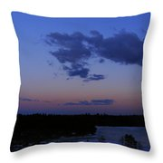 The Sunset Moon In Winter Throw Pillow