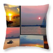 The Sunsets Of Long Island Throw Pillow
