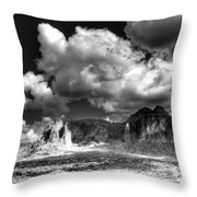 The Superstitions - Black And White  Throw Pillow