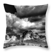 The Supes In Black And White  Throw Pillow