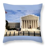 The Supreme Court Facade  Throw Pillow
