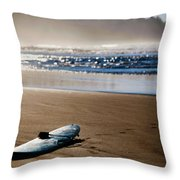 The Surf Is No Longer Up Throw Pillow