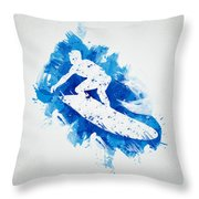 The Surfer Throw Pillow by Aged Pixel