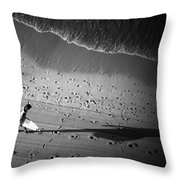 The Surfer's Steps Throw Pillow