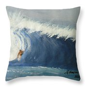 The Surfing Throw Pillow