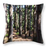 The Surreal Forest Throw Pillow