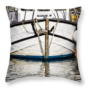 The Susie B  Throw Pillow