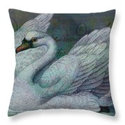 The Swan Also Rises Throw Pillow