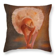 The Swan Warming Up Throw Pillow