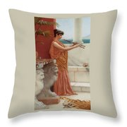 The Sweet Siesta Of A Summer Day Detail Throw Pillow