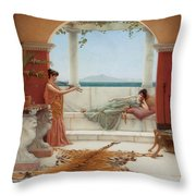 The Sweet Siesta Of A Summer Day Throw Pillow