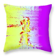 If You Wonder When The Swimmer Needs Some Air  Throw Pillow