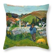 The Swineherd Throw Pillow