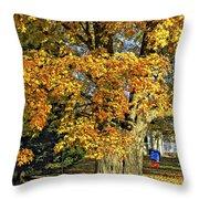 The Swinging Tree Throw Pillow