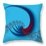 The Swish Of The Paintbrush Throw Pillow