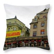 The Szegedi Halaszcsarda Throw Pillow
