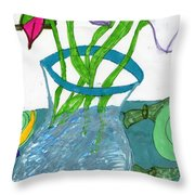The Table Setting Throw Pillow