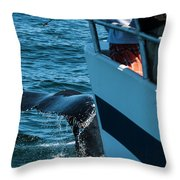 The Tail Of A Whale Right In Front Throw Pillow