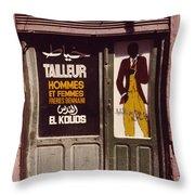 The Tailor Throw Pillow