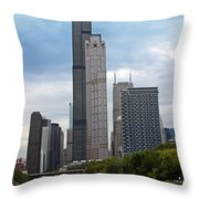The Tall Buildings Throw Pillow