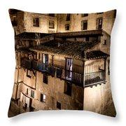 The Tall Houses Of Albarracin Throw Pillow
