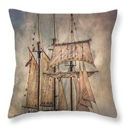 The Tall Ship Peacemaker Throw Pillow by Dale Kincaid