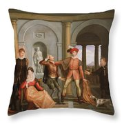 The Taming Of The Shrew Throw Pillow