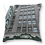The Tampa Theatre Throw Pillow